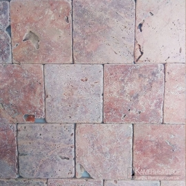 Травертин Red Travertine Tumbled