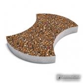 """Тротуарная плитка """"Омега"""" галька. Толщина 5 см. Бетонная плитка , декорированная галькой."""