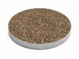 """Тротуарная плитка """"Круг"""",  галька. 500*500, толщина 5 см. Бетонный круг, декорированный  галькой."""