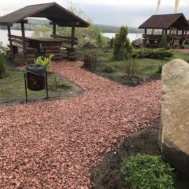 Крошка кварцитовая розовая фр.5-10