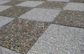 """Тротуарная плитка """"Квадрат"""", галька. 400*400, толщина 5 см. Бетонный квадрат, декорированный галькой."""