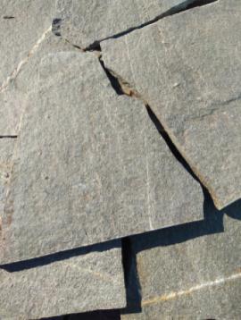 Болгарский сланец Polygonal Blue 2-3. Камень дикарь, используется на облицовку.