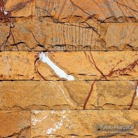 Мрамор Индия кирпичик - скол