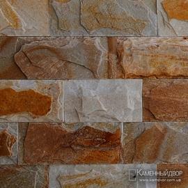 Сланец болгарский кирпичик скол (Гнейс) Золотистый 1-2х7,5 см х св. длина